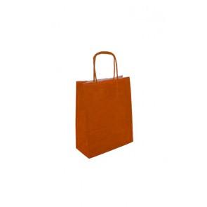 Papieren draagtas 18x8x22cm oranje (bxdxh) per 50 stuks