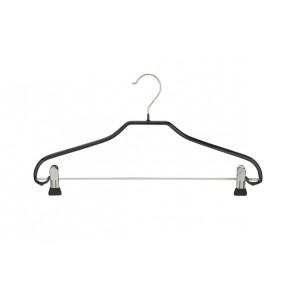 Antislip kledinghanger B40 cm met klemmen-knijpers Zwart