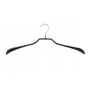 Antislip kledinghanger B46 cm met brede schouders zwart