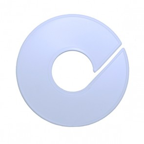 Blanco ronde maataanduider 11 cm wit
