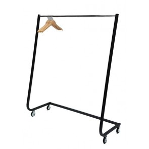 Design kledingrek zwart 164 cm hoog