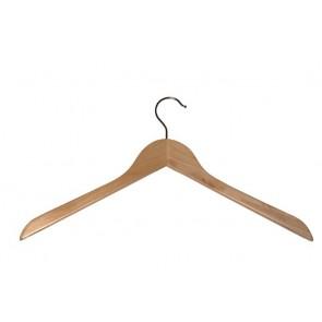 Geknikte kledinghanger 44 cm Blank gelakt hout