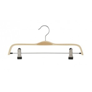 Gelaagde kledinghanger hout 37 cm met knijpers