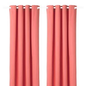 Paskamergordijn roze 2 stuks