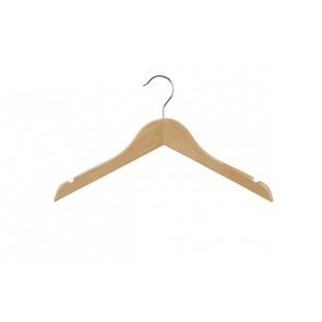 Kinder kledinghanger 35 cm Blank gelakt hout
