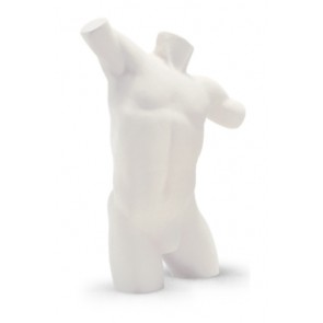 Lingerietorso man wit met armen