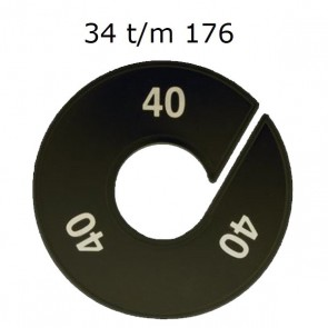 Maataanduider 34-182 zwart 9cm