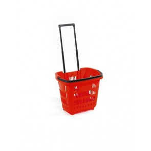 Winkelmandje rood 34 liter