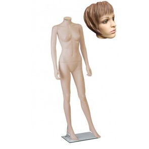 Onbreekbare dames etalagepop H1 met hoofd 1 huidskleur