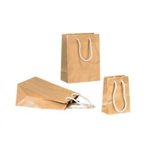 Papieren draagtas 20+10x25 cm Bruin