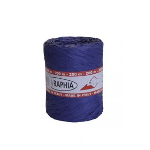 Raphia lint 15 mm Blauw