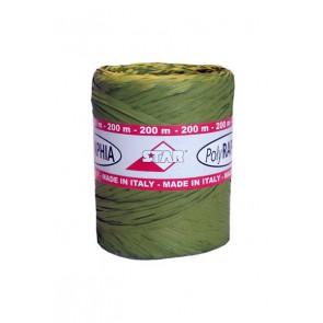 Raphia lint 15 mm Groen