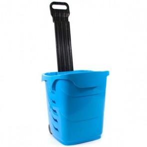 Winkelmandjes / trolleys 38l op wielen blauw
